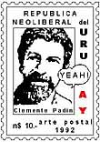 Stamp by Clemente Padin, 1992